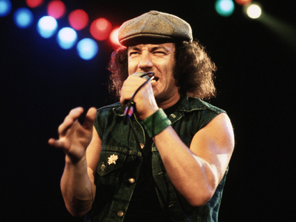 Brian Johnson on stage 1981